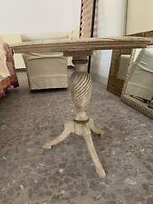 Tavolo Rotondo In Legno Manifattura Artigianale