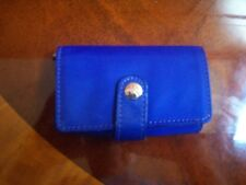 AMERICAN EAGLE OUTFITTERS Royal BLUE Tri Fold Button Snap Card Holder Wallet
