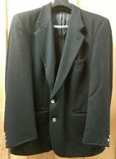 Burberry's Burberry Men's Black 100% Cashmere Blazer Suit Jacket Inventory Lot D