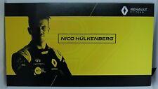 New listing 2019 Nico Hulkenberg F1 Card Formula 1 Renault Driver Postcard Autograph