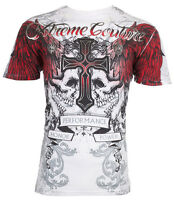 XTREME COUTURE by AFFLICTION Mens T-Shirt CARNIVORE Skulls Biker MMA $40