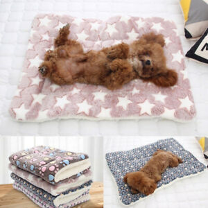 Pet Puppy Blanket Mat Thickened Fleece Pad Keep Warm Rug Supplies Sofa Cushion