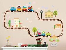 Trains & Tracks Wall Stickers / Decors, Removable Fabric Stickers