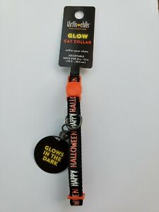 🎃 Whisker City Easy Release Halloween Glow Cat Collar - Spooky 👻