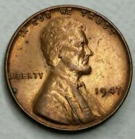 1947 - P - US Lincoln Wheat Cent Unc Reverse Toning (Q240)