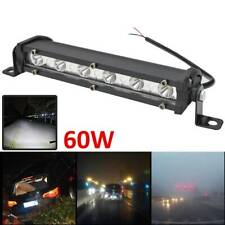 8'' 60W Spot WOW-LED Work Lights Offroad Driving Car Boat Bar Fog Light SUV