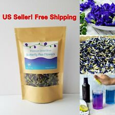 Tea Dried Butterfly Pea Blue Pure Natural Flowers Thai Drink Organic Flower 50g