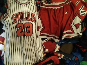 RARE LOT NBA BULLS CHAMPION SHORTS #23 PANTS JERSEY basketball men S shirt women
