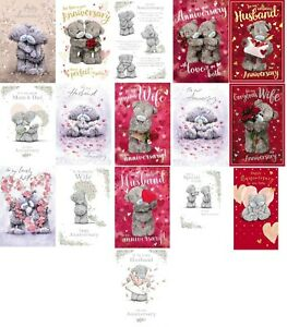 Me To You Bear ANNIVERSARY Cards Wife Husband Your Our Happy Couple Mum & Dad