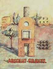 ABSOLUT GRAVES MICHAEL GRAVES VODKA BOTTLE 1998 VINTAGE PRINT AD