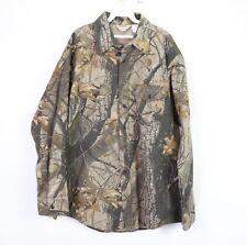 Vtg 90s New Winter Run Mens XL Realtree Hardwoods 20-200 Soft Cloth Camo Shirt