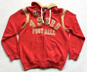 49ers NFL Hooded Zip Front Sweatshirt L