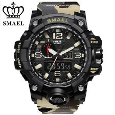 SMAEL Men Sport Military Watch LED Dual Display Digital Electronic Wristwatches