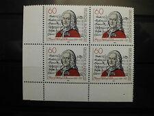 """Briefmarken Bund 1981 4er Block postfrisch""""Georg Philipp Telemann """" Eckrand"""