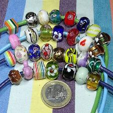 8 Abalorios Pulsera Europea Variados M713C European Bracelet Beads Silver