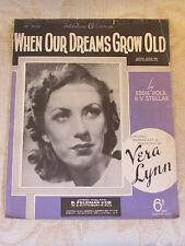 Partitions anciennes de lorsque nos rêves deviennent vieux, par Eddie Pola - 1940