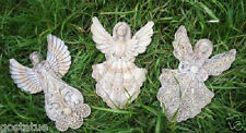 gostatue plaster molds 3 sweet angel/ fairy plastic molds plaster cement molds