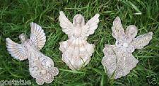 3 sweet angel fairy plastic molds plaster cement set casting fairies moulds