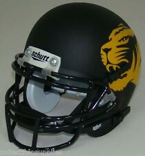 MISSOURI TIGERS ALTERNATE BLACK MATTE SCHUTT MINI FOOTBALL HELMET