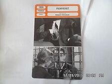 CARTE FICHE CINEMA 1959 PICKPOCKET Martin Lassalle Marika Green Pierre Leymarie