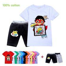 Ryan Toys Review Kids Children Casual Tracksuit Short Sleeve T-Shirt Top + Short