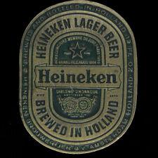 Heineken Beer Dutch Holland Amsterdam Drinker Gift 1970s Vtg Belt Buckle K618