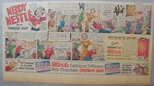 Nestle's Cocoa Ad: Neddy Nestle Treasure Hunt! 1940's-50's Size:7.5  x 15 inches