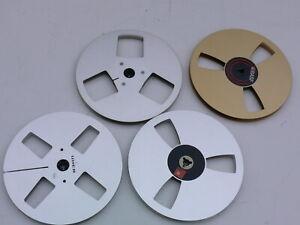 4x Tonband Metall-Leerspule 18cm /Grundig, Uher, BASF Konvolut