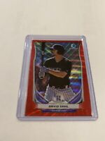 2014 BOWMAN CHROME RED WAVE REFRACTOR ROOKIE DAVID DAHL RC /25