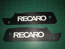 FOCUS mk2 RS RECARO Siège plaques 3D Carbon wrap blanc avec Recaro logo.