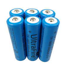 6 X 18650 5000mAh 3.7V Li-ion Rechargeable Battery for Flashlight Torch LED