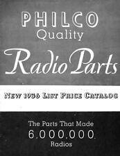 1936 Philco Antique Radio Parts Catalog on CD