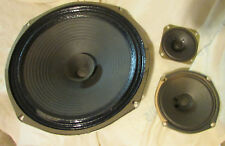 "12 INCH WOOFER, 5"" MIDRANGE & 3"" TWEETER PAPER w BASS STOP CAP FROM OLD JVC CAB."