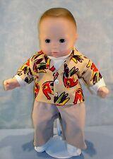 15 Inch Doll Clothes - Boy Doll Thanksgiving Turkey Shirt, Pants, Turtleneck