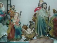 nativita 3 pz pastori 15 cm resina maria gius. gesu presepe crib shepherd gia 10