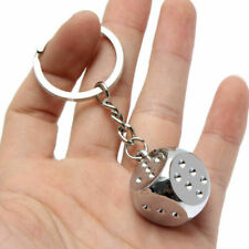 Keyring Keychain Key Chain Ring Gift Fashion Mens Alloy Metal Dice Keyfob Car