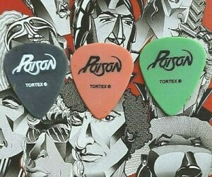 POISON 3-guitar pick DEADLY ASSORTMENT - BRAND NEW!!