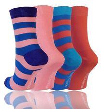 Striped Machine Washable 4-11 Multipack Socks for Women