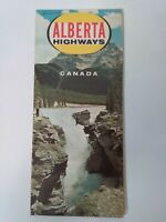 Vintage 1965 Official Alberta Canada Highway HM Gousha Travel Road Map