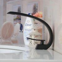 FsBlack Curve  Modern Basin Sink Faucet Single Handle/Hole Brass Mixer Taps