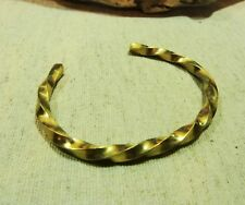 Antique Twisted Brass Viking Bracelet 3164.