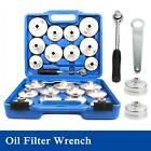 23 Cup Type Oil Filter Wrench Set Socket Tool Automotive Removal Garage Kit Tool