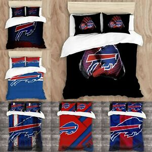 Buffalo Bills Bedding Set 3PCS Duvet Cover Pillowcases Comforter Cover Fans Gift