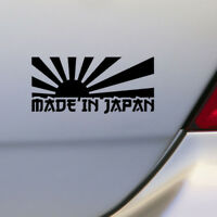 Black Rising Sun Made In Japan JDM Car Stickers Decal Motorcycle Stickers Car