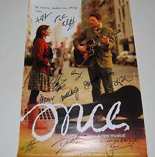 Once Musical Original Cast SIGNED 14x22 Window Card Poster Glen Hansard COA