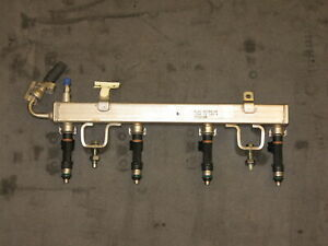 2007-2011 FORD RANGER 2.3L DOHC 16 FUEL RAIL WITH FOUR INJECTORS 4L5G-9D280-AE