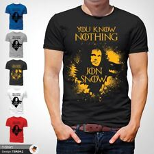 You Know Nothing John Snow Men's T-Shirt Birthday Gift Xmas Present Black