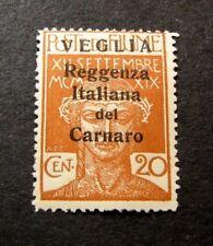Fiume  Stamp Scott#  130  Overprinted  1920  MH  C424