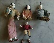 Antique Asian Chinese Doll Dolls - Lot of 4