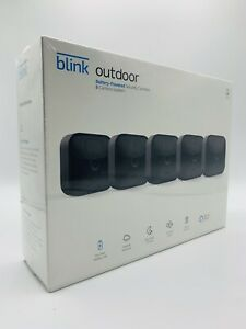 Blink Outdoor WiFi 5-Camera Security System   Newest Model works w/ Alexa